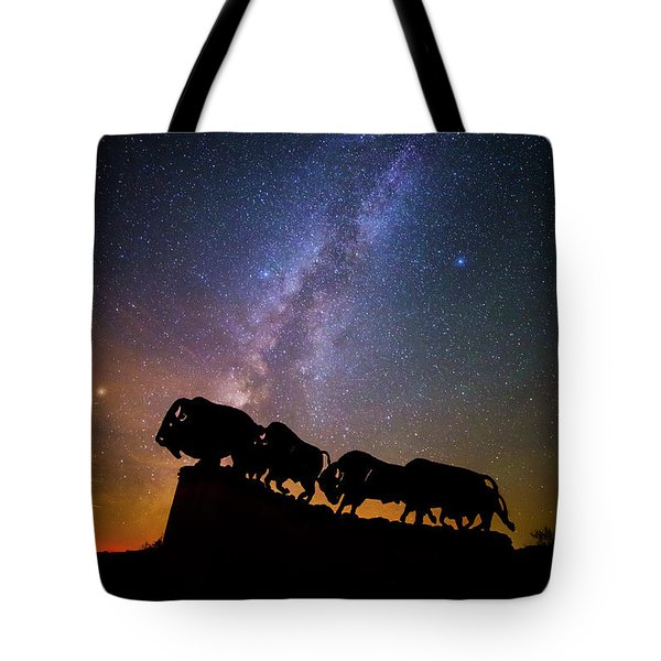 Tote Bag featuring the photograph Cosmic Caprock Bison by Stephen Stookey