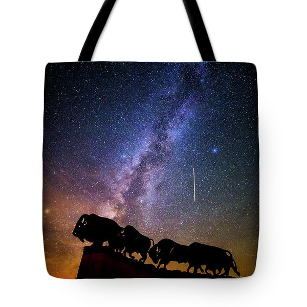 Tote Bag featuring the photograph Cosmic Caprock by Stephen Stookey