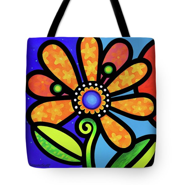 Cosmic Daisy In Yellow Tote Bag