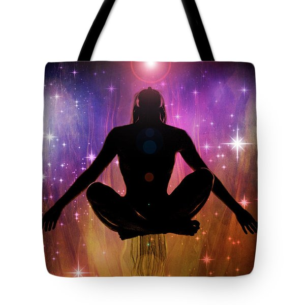 Tote Bag featuring the photograph Cosmic Enlightenment... by Nina Stavlund