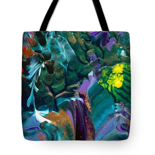 Cosmic Feathered Webbed Universe Tote Bag