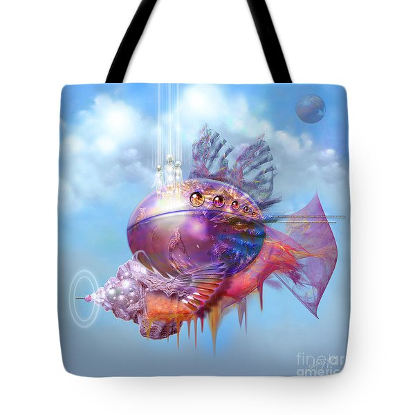 Cosmic Fish Spaceship Tote Bag