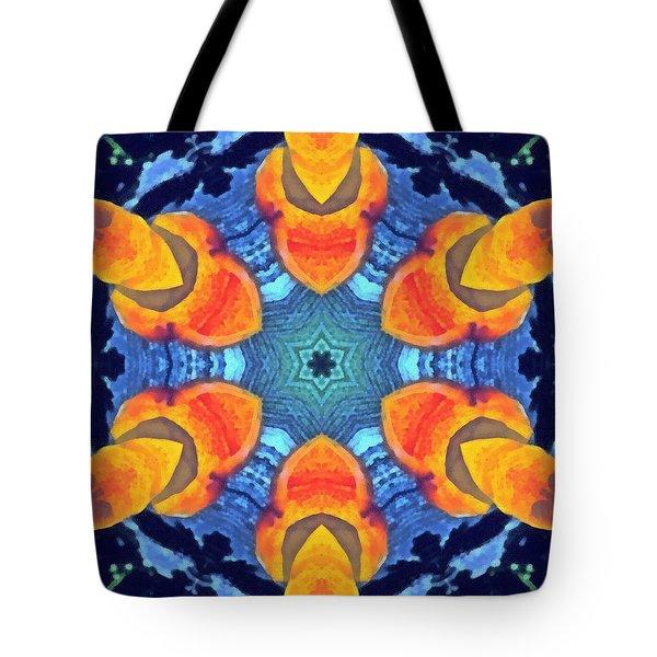 Tote Bag featuring the painting Cosmic Fluid by Derek Gedney