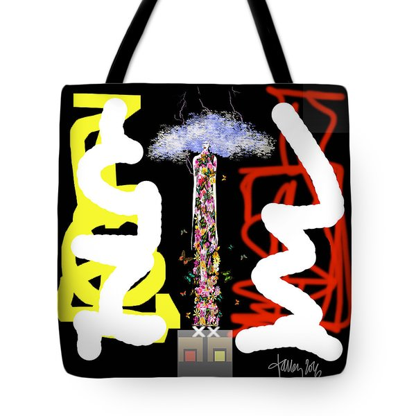 Cosmic Geisha - Angry Mountain Messenger Tote Bag