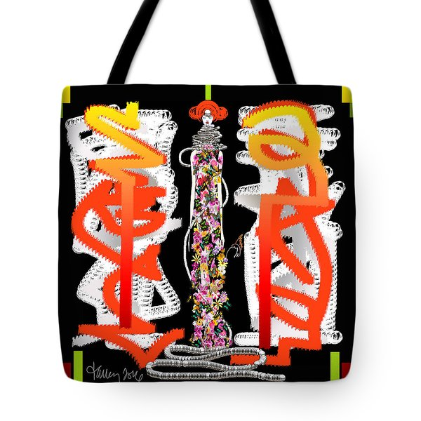 Cosmic Geisha - Dimension Hopping Tote Bag