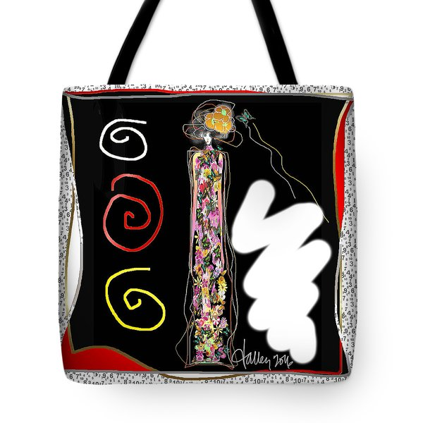 Cosmic Geisha - Trapped In Computational Graffiti  Tote Bag
