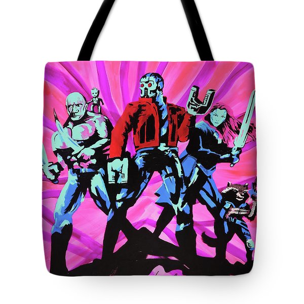 Cosmic Guardians Of The Galaxy 2 Tote Bag