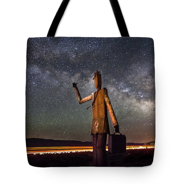 Cosmic Hitchhiker Tote Bag