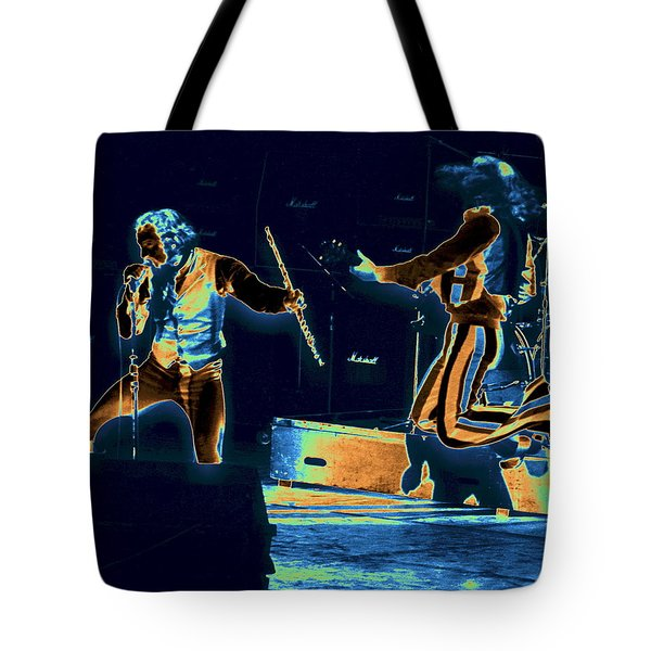 Tote Bag featuring the photograph Cosmic Ian And Leaping Martin by Ben Upham