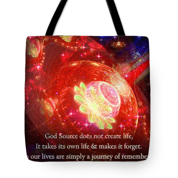 Cosmic Inspiration God Source 2 Tote Bag