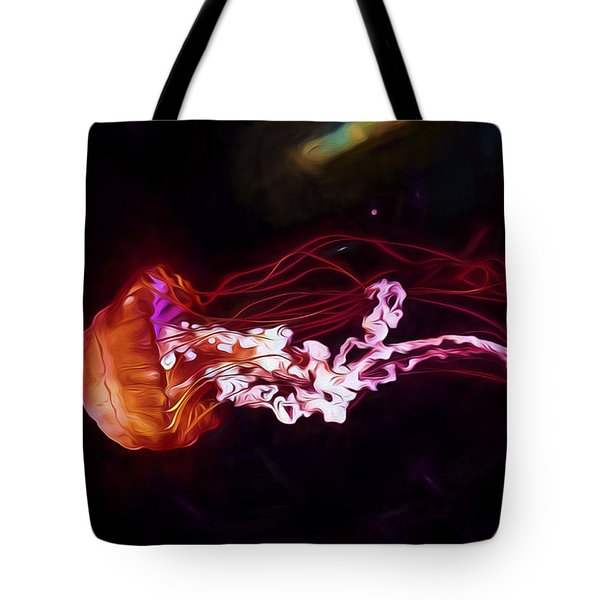 Cosmic Jellyfish Tote Bag