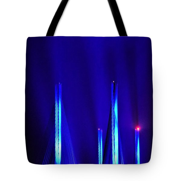 Blue Light Rays - Indian River Inlet Bridge Tote Bag