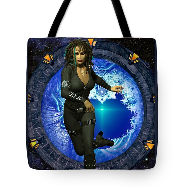 Cosmic Runner Tote Bag