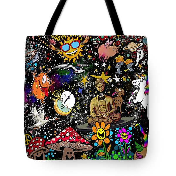 Cosmic Smiles Tote Bag