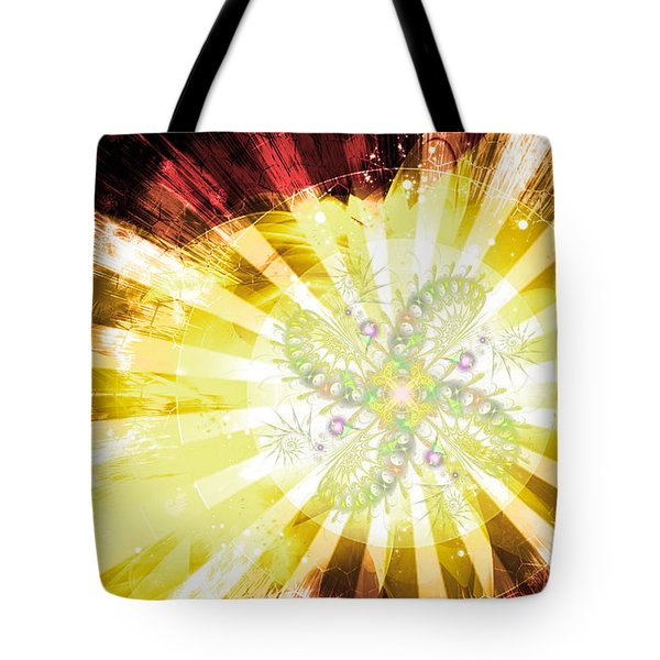 Cosmic Solar Flower Fern Flare 2 Tote Bag