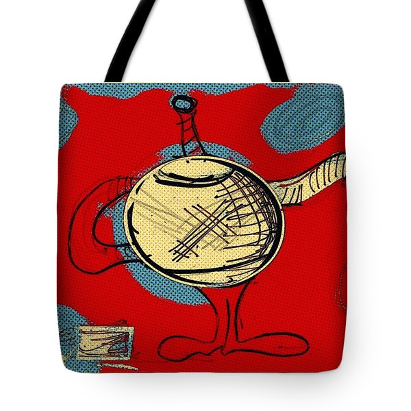 Cosmic Tea Time Tote Bag by Jason Nicholas