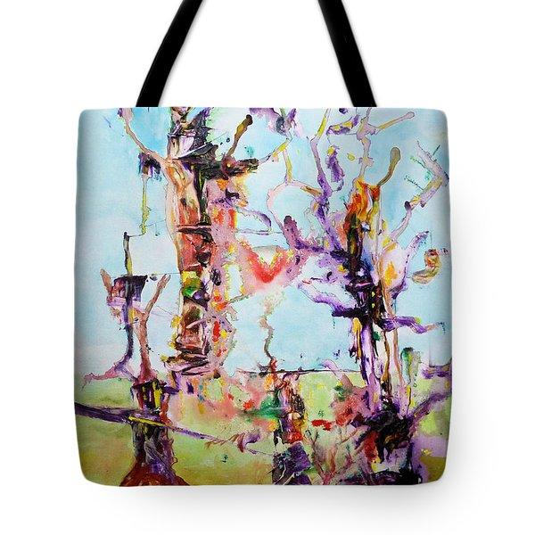 Cosmic Tree Family Tote Bag