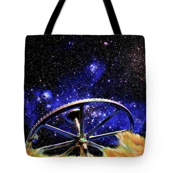 Tote Bag featuring the photograph Cosmic Wheel by Jim and Emily Bush