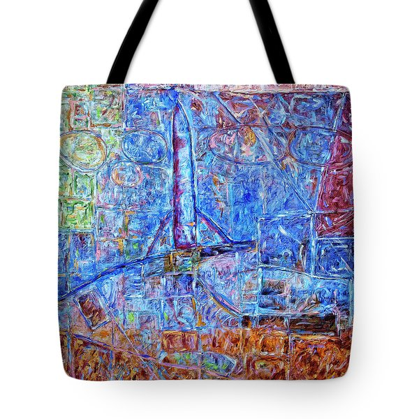 Tote Bag featuring the painting Cosmodrome by Dominic Piperata