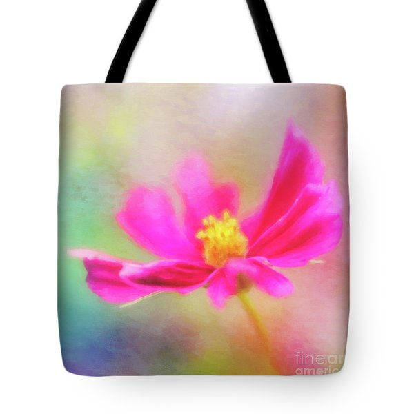 Cosmos Flowers Love To Dance Tote Bag