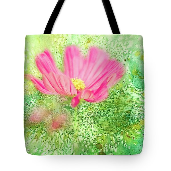 Cosmos On Green Tote Bag