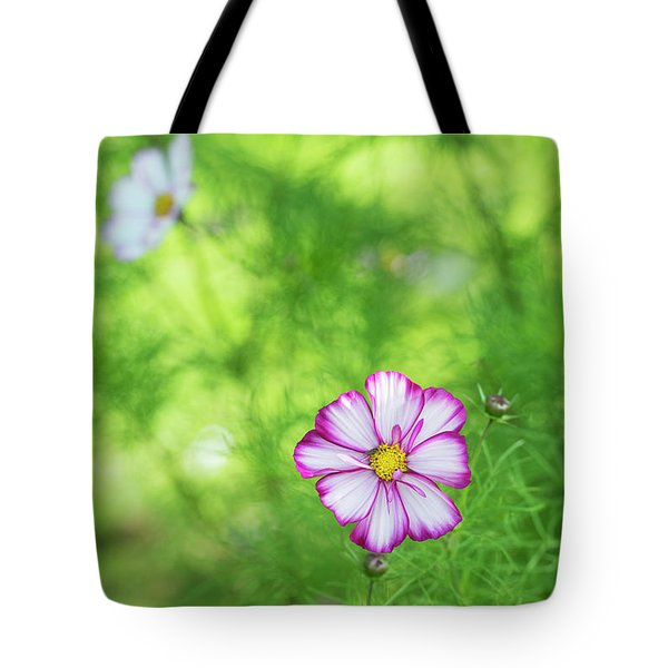 Tote Bag featuring the photograph Cosmos Razzmatazz by Tim Gainey