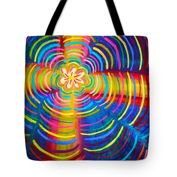 Cross Radiating Seven-fold Promise Of Hope Tote Bag