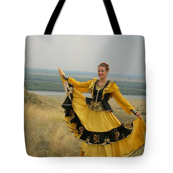 Cossack Young Woman Tote Bag