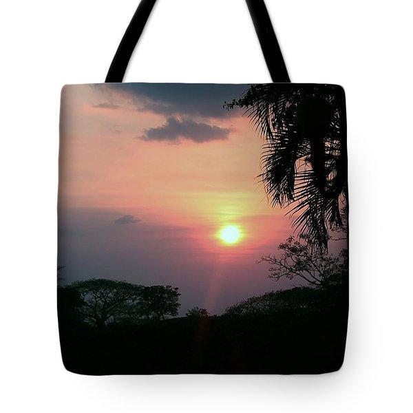 Tote Bag featuring the photograph Costa Rican Sundown by Ellen Barron O'Reilly