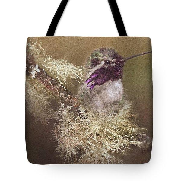 Costas Hummingbird Painted Tote Bag