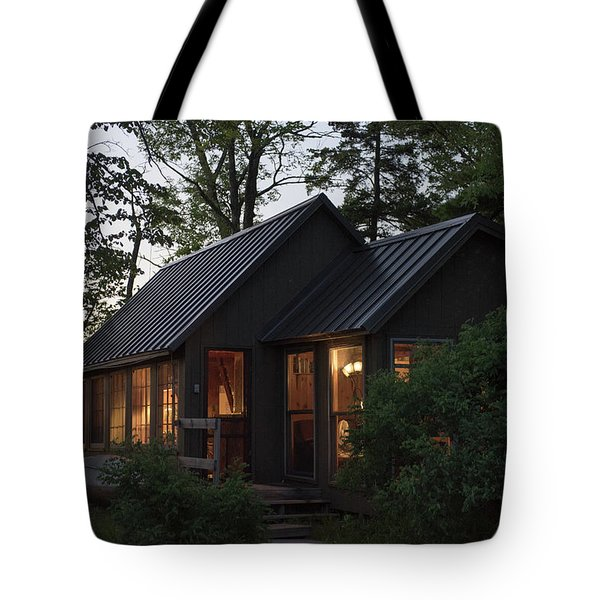 Tote Bag featuring the photograph Cosy Cabin In The Woods by Gary Eason
