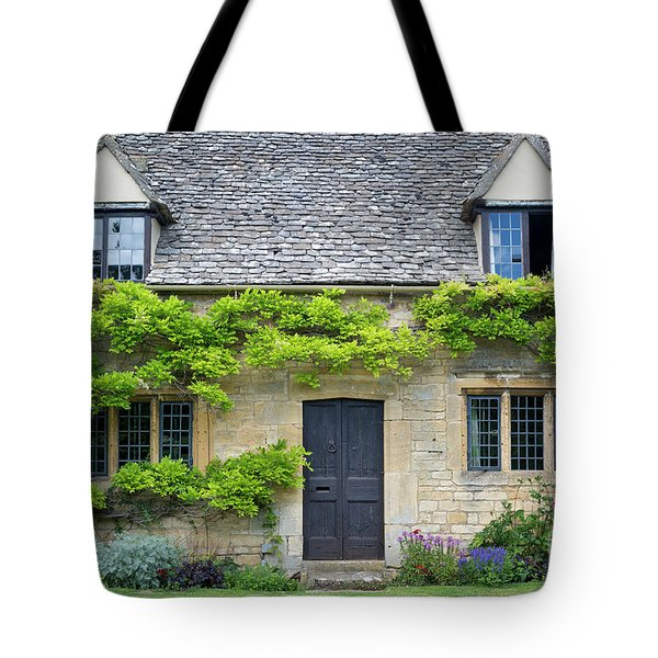 Tote Bag featuring the photograph Cotswolds Cottage Home II by Brian Jannsen