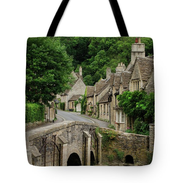 Cotswolds Village Castle Combe Tote Bag