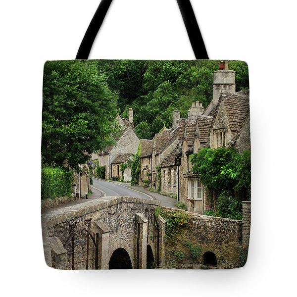Cotswolds Village Castle Combe Tote Bag