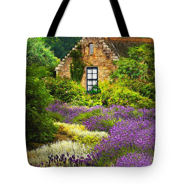 Cottage Amidst The Lavender Tote Bag
