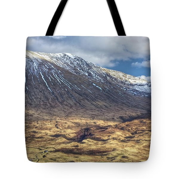 Cottage At The Base Of The Mountain Tote Bag