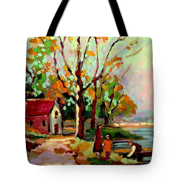 Cottage Country The Eastern Townships A Romantic Summer Landscape Tote Bag by Carole Spandau