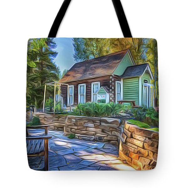 Tote Bag featuring the painting Cottage by Harry Warrick