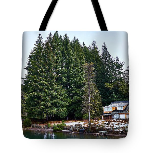 Little Cottage And Pines In The Argentine Patagonia Tote Bag