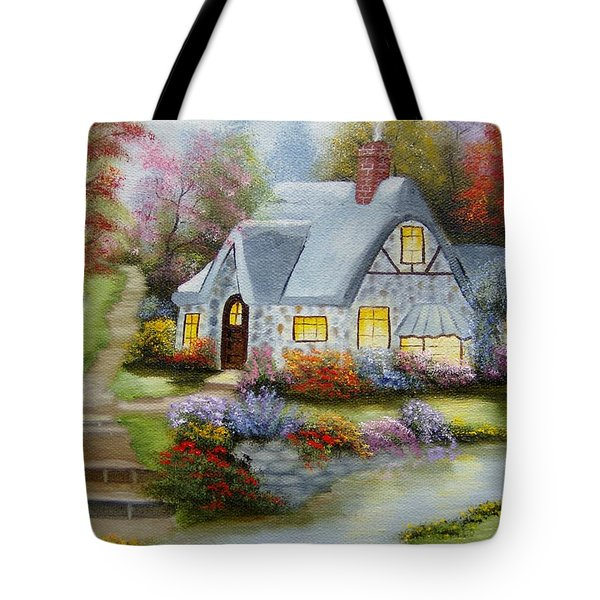 Cottage In Fall Tote Bag