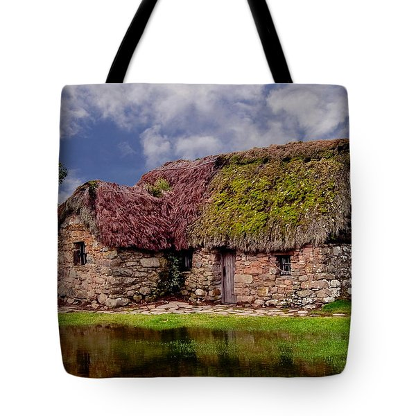 Cottage In The Highlands Tote Bag by Anthony Dezenzio
