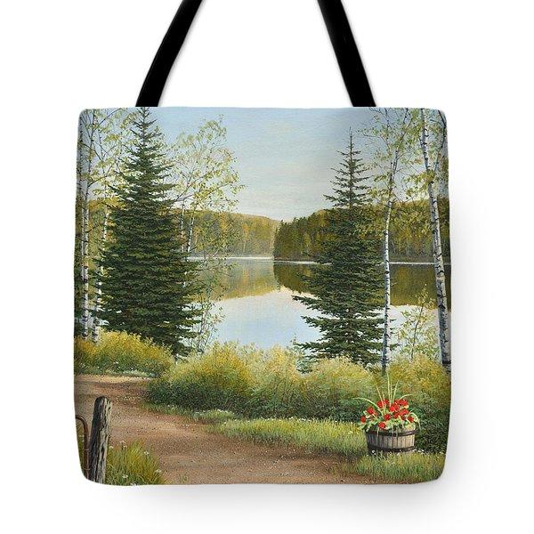 Cottage Lane Tote Bag