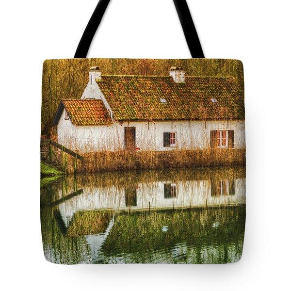 Cottage Reflection Tote Bag