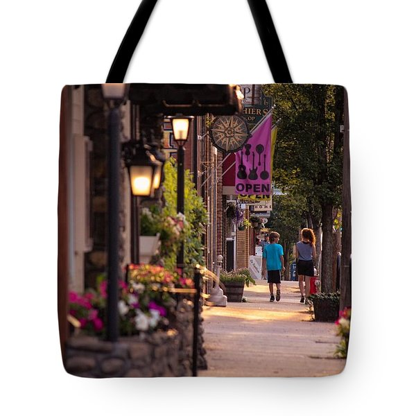 Cottage Street Stroll Tote Bag