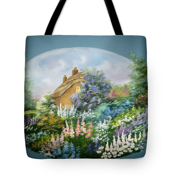 Cottage Vignette Tote Bag