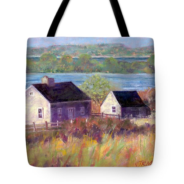Cottages By The Bay Tote Bag by Julie Maas