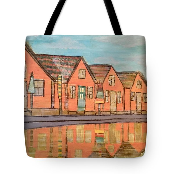Cottages By The Beach Tote Bag