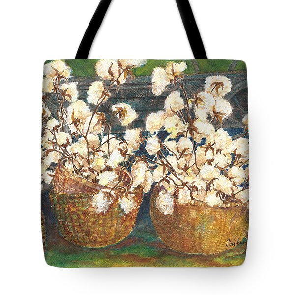 Cotton Basket Tote Bag