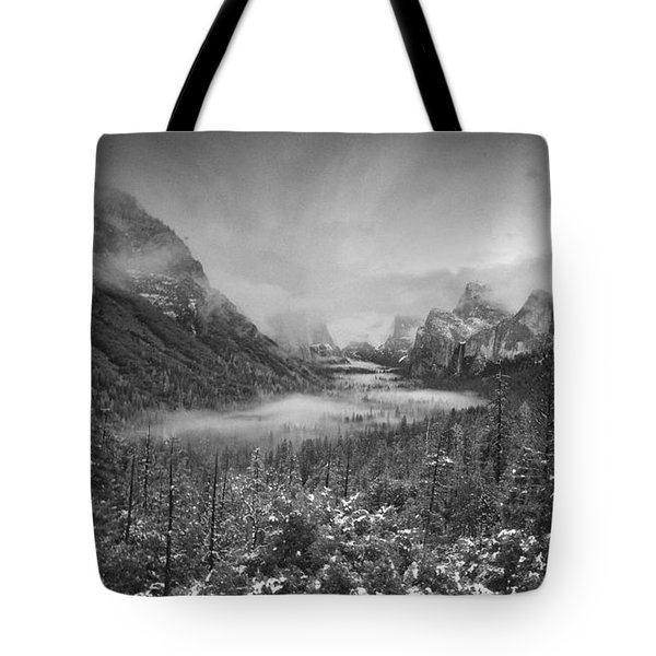 Tote Bag featuring the photograph Cotton Candy Blankets Yosemite by Lora Lee Chapman