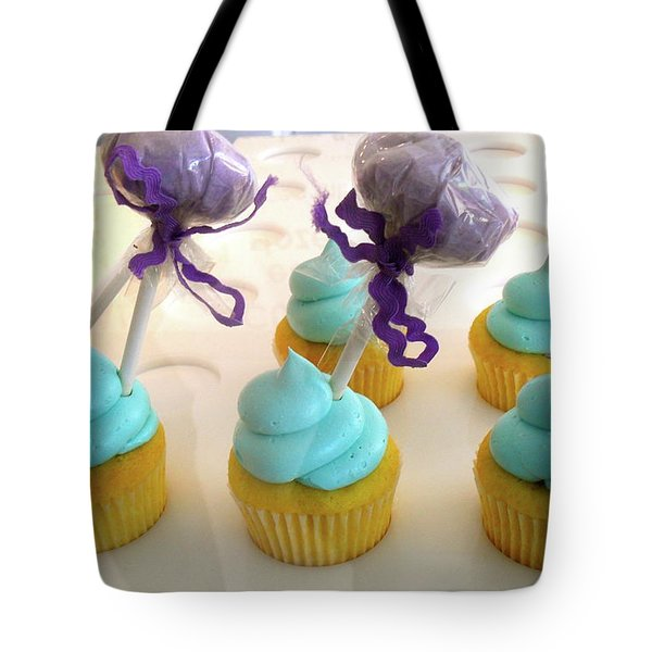 Cotton Candy Cupcakes Tote Bag by Beth Saffer